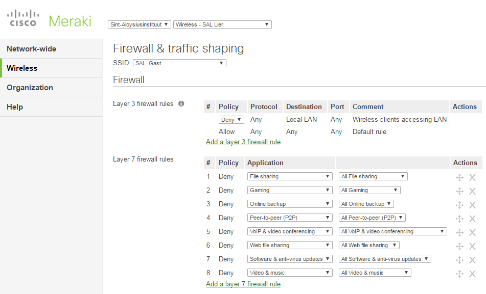 meraki-ssid-traffic-shaping-rules